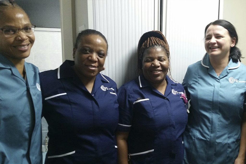 A team of our nurses supporting the NHS services